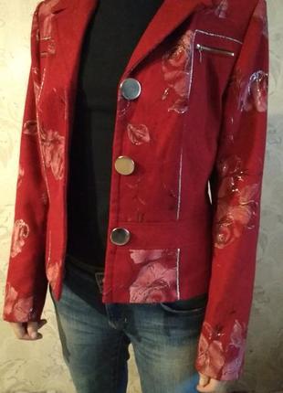 Пиджак женский с розами1