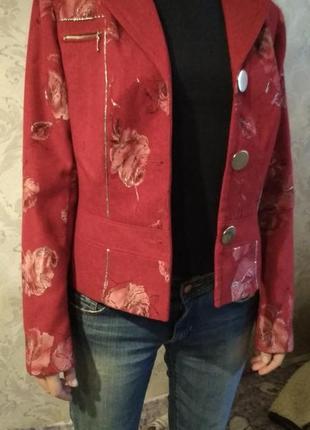 Пиджак женский с розами2