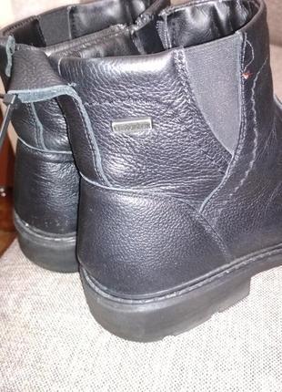 Итальянские кожаные мужские ботинки vera pelle