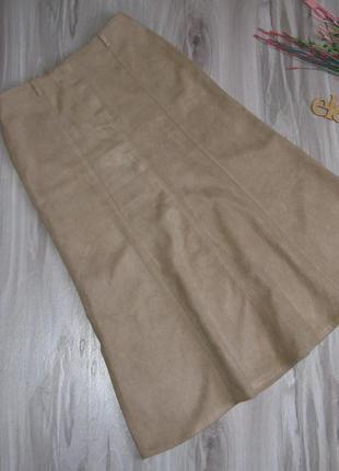Длинная юбка эффект замши., ткань плотная на осень- зиму размер eur 40/ 421