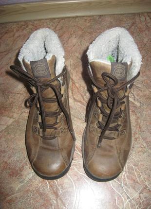 Женские фирменные зимние ботинки timberland waterproof 38 р (по ст-24 см)2