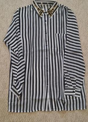 Блуза с украшением на воротнике brave soul,р-р s4