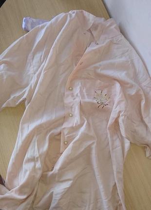 Нюдовая рубашка с вышивкой1