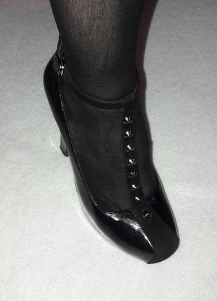 Кожаные чёрные туфли5