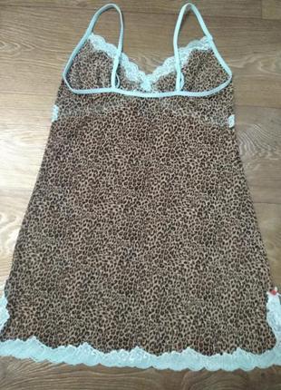 Леопард! легкая секси сорочка, пеньюар, ночнужка3