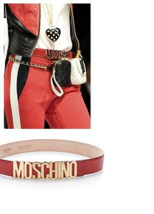 Кожаный ремень на талию moschino оригинал2