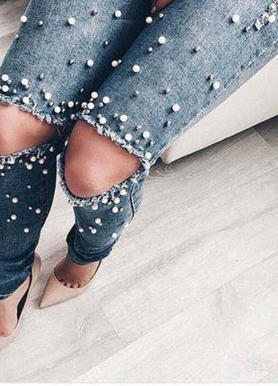 Цена 🔥🔥🔥трендовые джинсы скини бисер
