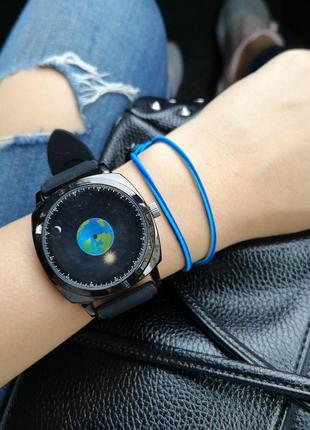 Часы с силиконовым черным ремешком1