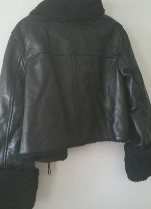 Куртка кожаная дубленка h&m4