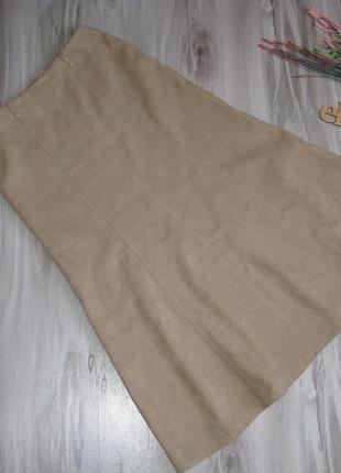 Длинная юбка эффект замши., ткань плотная на осень- зиму размер eur 40/ 424