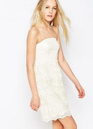 Новорічний розпродаж ! кружевное платье с рукавами 3/4 lavand1