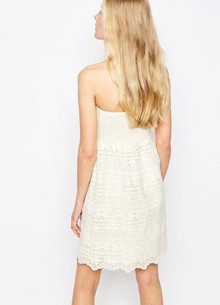 Новорічний розпродаж ! кружевное платье с рукавами 3/4 lavand2