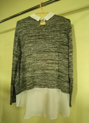 Кофта с имитацией блузи wallis2