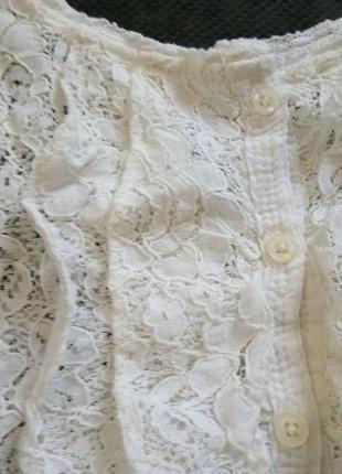 Нарядная майка блузка из мягкого кружева2