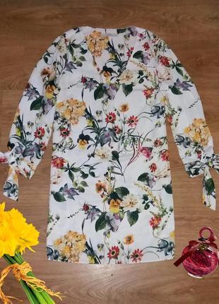 Удлиненная блуза в цветы george размер 121