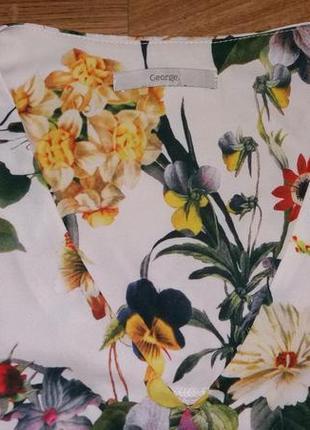 Удлиненная блуза в цветы george размер 122