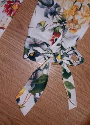 Удлиненная блуза в цветы george размер 123