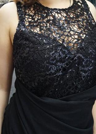 Вечернее платье в пол lipsy с шикарным декором3
