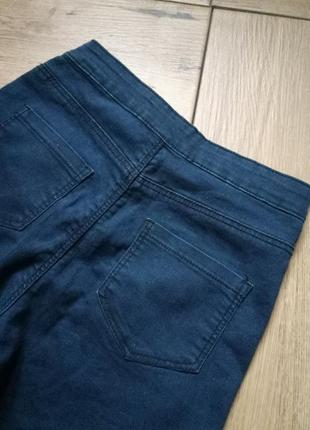 Классные джинсы skinny,джинсы с высокой посадкой,джинсы с рваними коленями,denim co3