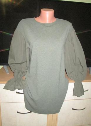 Стильное свободное платье bershka2