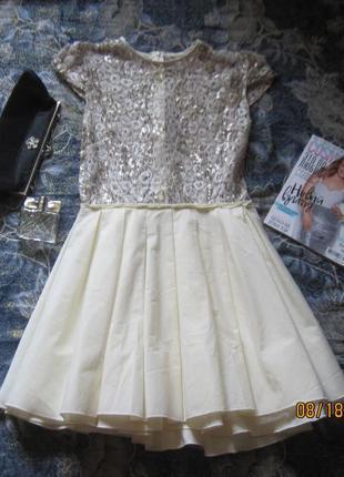 Новогодний наряд! нарядное платье с пышной юбкой и серебристым верхом.2