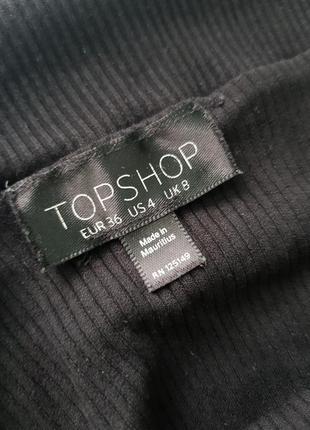Черный боди с открытыми плечами topshop!!3