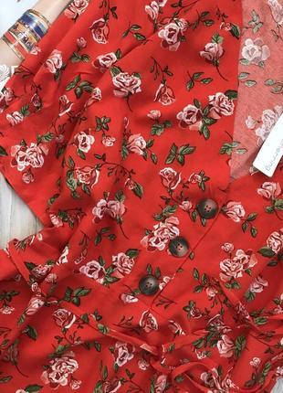 Красиво платье цветочный принт на пуговках4