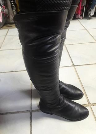 Кожаные ботфорты1