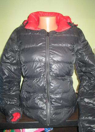 Стеганная двухсторонняя курточка пуховик