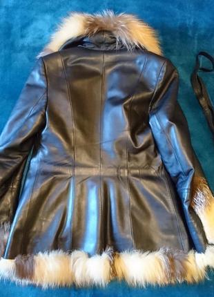 Кожанная куртка с натуральным мехом3