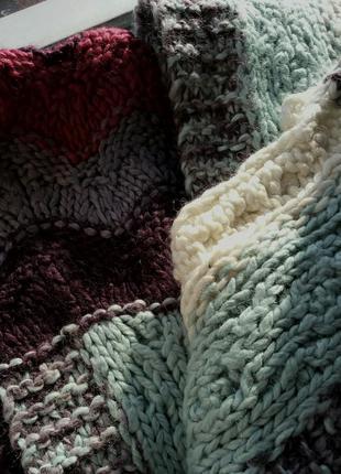 Теплый вязаный шарф2
