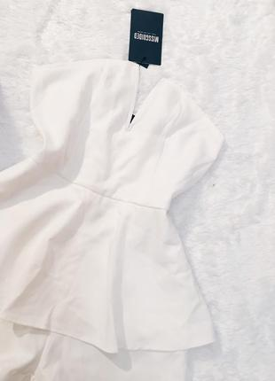 Шикарный новый белый плотный ромпер(комбез) s,m,l с биркой3