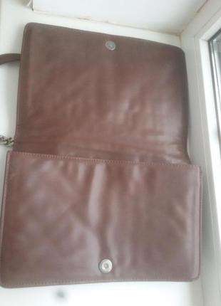 Кожаная сумка с тиснением и цепочкой zara3