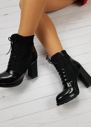 Очень качественные ботинки на шнуровке деми 37р распродажа2