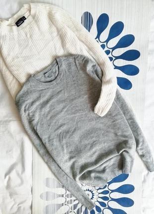Серый джемпер cos пуловер свитер 75% wool шерстяной шерсть яка сірий 25% yak hair3