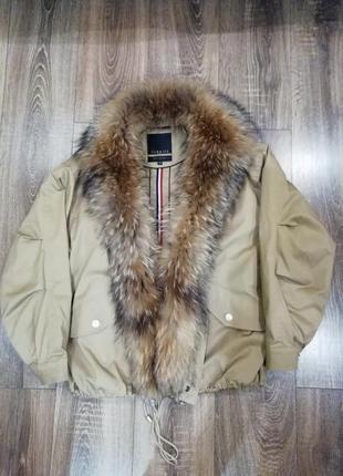 Зимняя куртка бомбер1