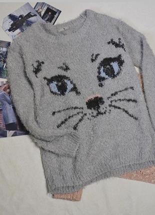 Свитер травка с котиком1