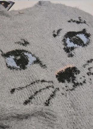 Свитер травка с котиком2