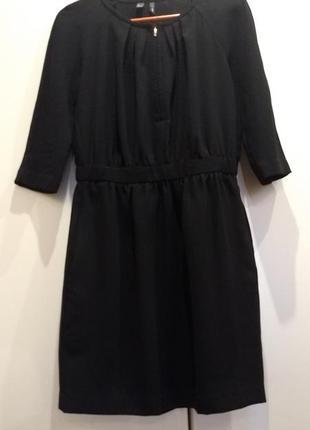 Платье чёрное манго1