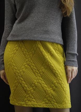 Теплая горчичная юбка от бренда vila clothes3