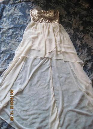 Новогодний наряд!шикарное нарядное платье с ассиметричным подолом за 199 грн.!!!2