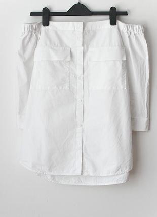 Крутейшая рубашка с открытыми плечами next • р-р l2