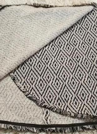 Плотная теплая юбка на запах с бахрамой от amisu4