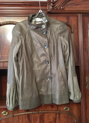 Куртка кожаная фирмы elibol, производство италия1