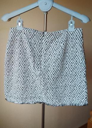 Плотная теплая юбка на запах с бахрамой от amisu2