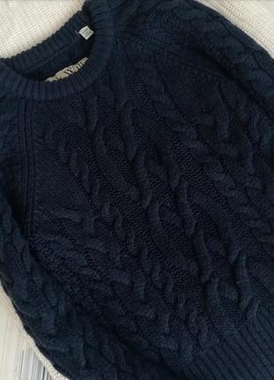 Шерстяной синий свитер світер синій jack wills 100%lambswool джемпер пуловер косы2