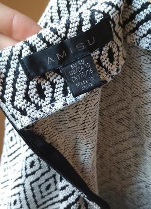 Плотная теплая юбка на запах с бахрамой от amisu5