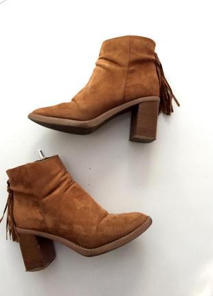 Замшевые ботинки осень-весна1