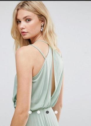 Нежное  плисированое  платье миди3