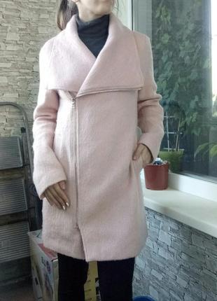 Нежное длинное пальто косуха от new look1